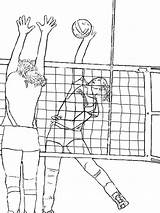 Volleyball Coloring Printable Mycoloring sketch template