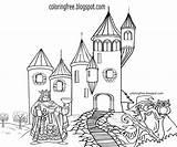 Castle Coloring King Printable Drawing Medieval Palace Royal Cartoon Magic Wizard Dark Teenagers Rural Haunted Ages Getdrawings Farm Owl Kicking sketch template
