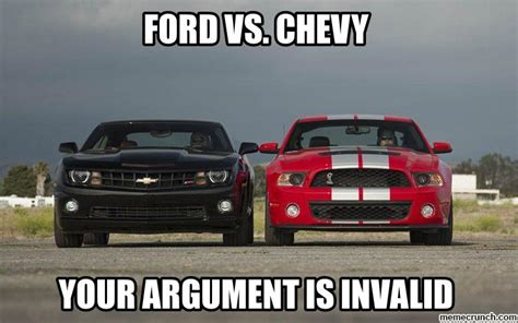 Ford Vs Chevy Meme - ford vs chevy
