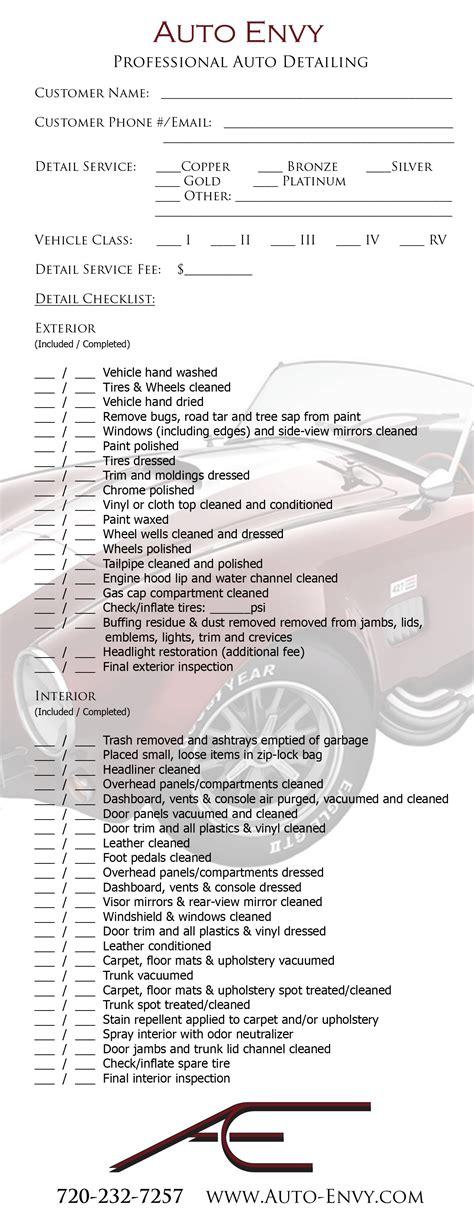 checklist  partial dry hands car detailing