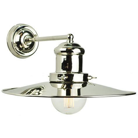 wall light in vintage fisherman design solid brass with pewter finish