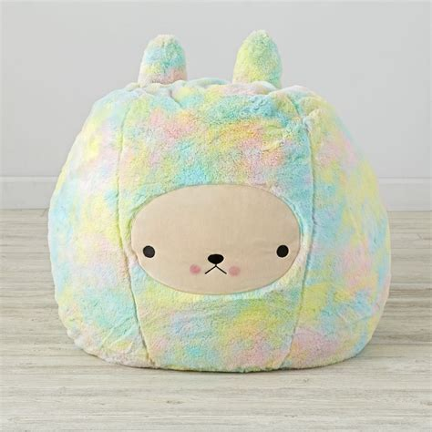 bunny bean bag chair set the land of nod