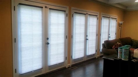cellular shades on doors contemporary living