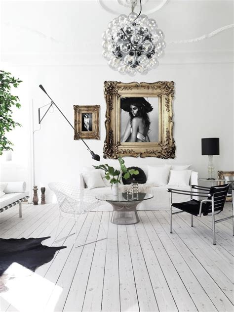Danish Glam Apartment With A Monochromatic Palette And