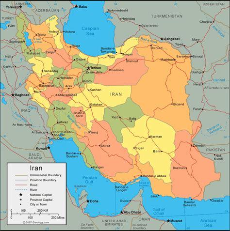 iran map  satellite image