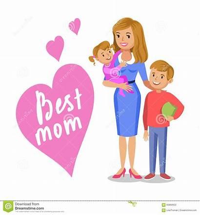 Mamma Bambini Generi Suoi Derivato Figlio Sorridenti