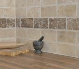 tumbled travertine noce and white