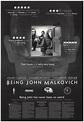 Being John Malkovich 1999 Original Movie Poster #FFF-73894 ...