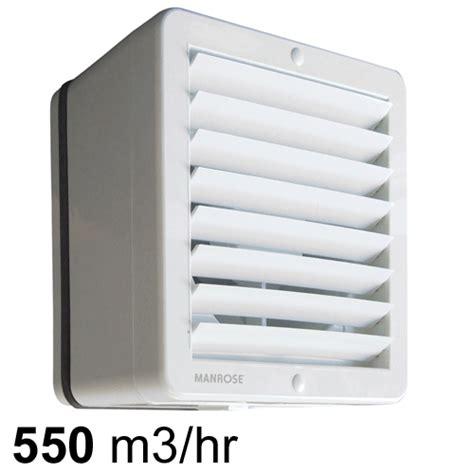 manrose windowwall fan  auto shutters