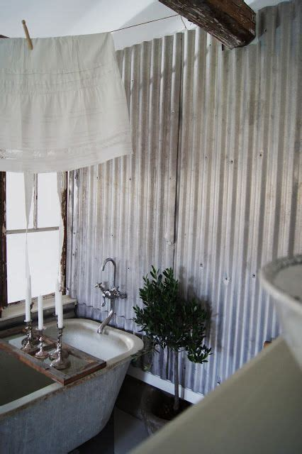 Interior decorative metal wall panels can draw upon biophilic design by using our botanical design. Corrugated metal wall panels   Metal wall panel, Rustic bathrooms, Interior