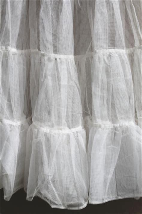 Retro 50s vintage crinoline petticoat, net ruffled nylon