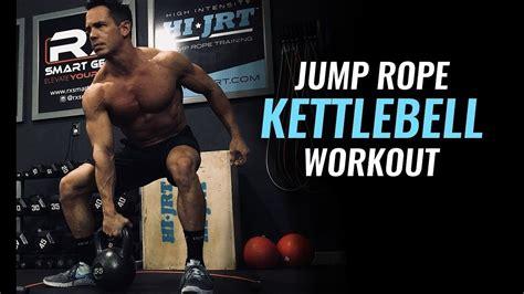 kettlebell interval training workout rope jump along follow