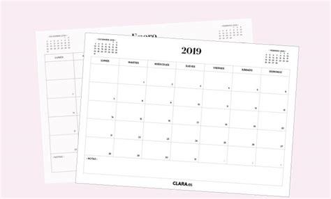 Calendario 2019 Para Imprimir Gratis (en Pdf Y Jpg
