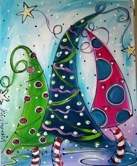 christmas art projects for middle schoolers best 25 whimsical ideas on canvas paintings tree