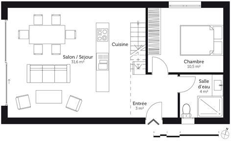 plan de maison 2 chambres plan d maison de 2 chambres maison moderne