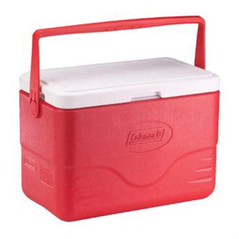 fan with ice compartment coleman 28 quart red cooler with bail handle 202186