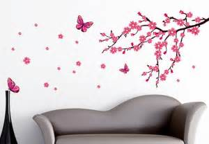 Cherry Blossom and Butterfly Wall Decals