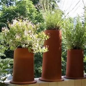 Decoration terrasse avec pots de fleurs for Affiche chambre bébé avec grand pot de fleur exterieur rouge