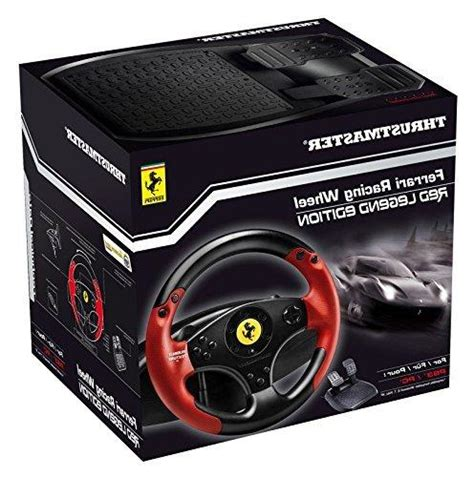 The ferrari racing wheel red legend edition is 100% compatible with all racing games on playstation 3 and piece (gt, f1, nascar, rally thrustmaster's bungee cord exclusive system provides realistic resistance and the central clamping system with wide jaws allows for optimal stability. THRUSTMASTER VG Ferrari Racing Wheel - Red Legend