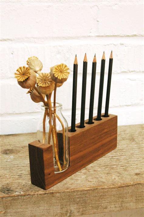 pencil desk pen holder wood desk organizer wooden pencil holder