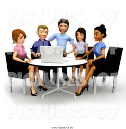 Business Team Meeting Clip Art