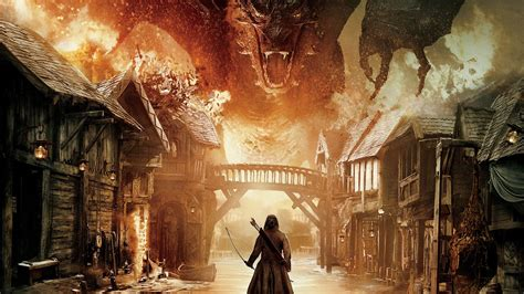 hobbit  battle    armies dragon warrior