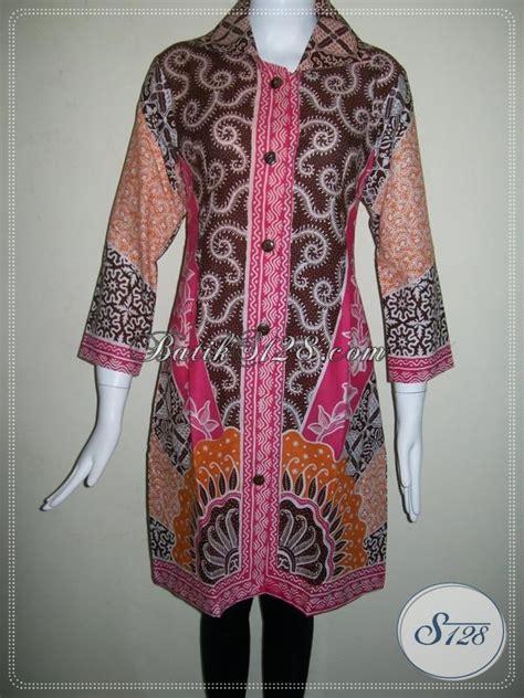 dress trendy  model  kinidress batik kerja motif