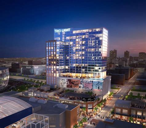 parking in power and light district kansas city 39 s two light tower will feature glass balconies