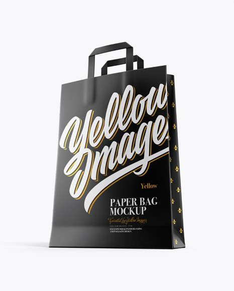 300+ best shopping bag mockup templates. Paper Bag Mockup - Front View - Matte Bag with Raised Up ...
