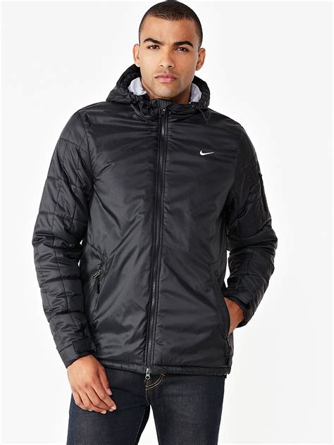 nike nike pilot mens jacket  black  men lyst