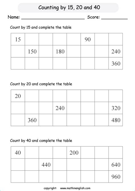 skip count numbers     math addition  counting