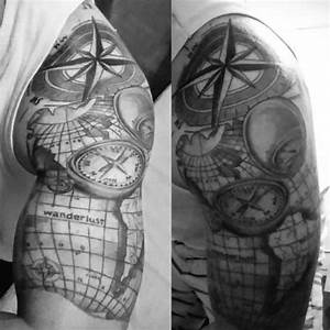Best 25 compass tattoo design ideas on pinterest collection of 25 grey world map tattoo on biceps of guy gumiabroncs Gallery