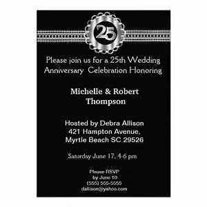 1000 images about 25 wedding anniversary invitations on With black and white wedding anniversary invitations