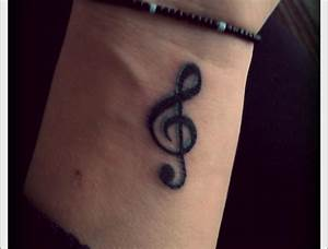 Girl Wrist Music Note Tattoo | Tattooshunt.com
