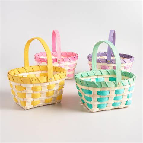 easter baskets large rope easter baskets set of 4 world market