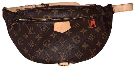 louis vuitton bumbag lv monogram brown leather cross body