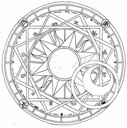 Circle Magic Clow Coloring Mandala Circles Clamp