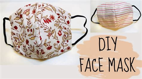 diy   sew face mask  sewing machine youtube