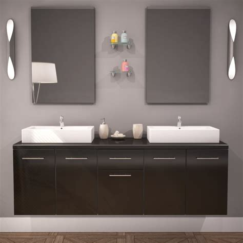 meuble salle de bain laque noir meuble salle de bain vasque olex 150cm laqu 233 noir