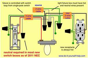 Electrical Wiring Diagram To Add An Outlet