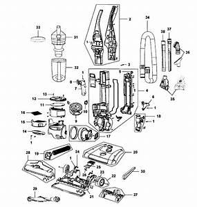 Hoover Model Uh70820 Vacuum  Upright Genuine Parts