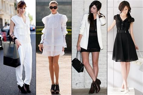 dress  flattering black  white fashion