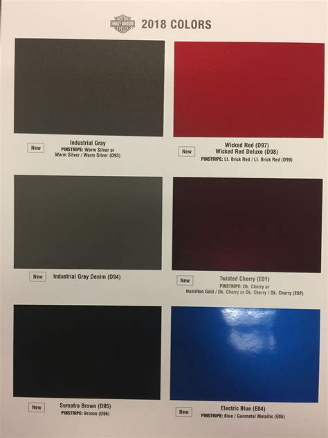 harley colors anyone see the new 2018 color chart page 3 harley