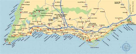 map  portugal algarve holiday map  holidaymapqcom
