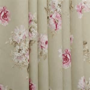 vintage drapery fabric vintage chintz floral print retro shabby 100 cotton
