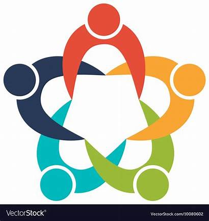 Teamwork Icon Team Vector Support Icons Abstract
