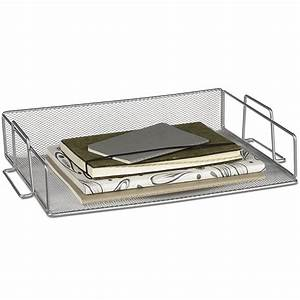 silver mesh stackable paper tray in paper trays With stackable document trays