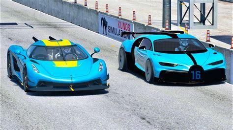 Koenigsegg jesko vs bugatti chiron. Bugatti Chiron Pur Sport vs Koenigsegg Jesko Absolut - Drag Race 2 KM - YouTube