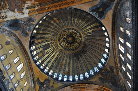 cupola di santa sofia basilica di santa sofia istanbul cupola della basilica