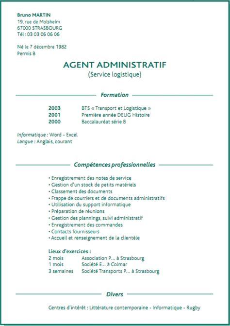 Rédaction Cv Gratuit by Resume Format Exemple De Cv Gratuit Pour De S 233 Curit 233